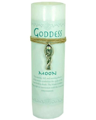 Goddess Moon Spell Candle with Amulet Pendant at Tree of Life Journeys, Reconnect with Yourself - Meditation, Law of Attraction, Spiritual Products