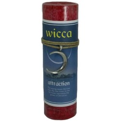 Wicca Attraction Spell Candle with Amulet Pendant