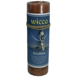 Wicca Intuition Spell Candle with Amulet Pendant