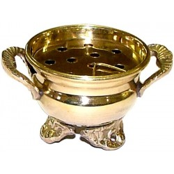 Brass Cauldron Incense Burner Tree of Life Journeys Reconnect with Yourself - Meditation, Law of Attraction, Spiritual Products