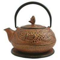 Fish Design Cast Iron Tea Pot