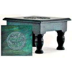 Greenman Wood Altar Table Tree of Life Journeys Reconnect with Yourself - Meditation, Law of Attraction, Spiritual Products