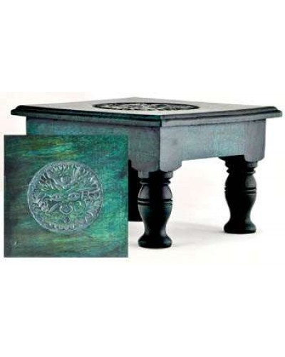 Greenman Wood Altar Table at Tree of Life Journeys, Reconnect with Yourself - Meditation, Law of Attraction, Spiritual Products