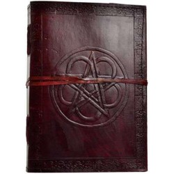 Pentagram Leather 10 Inch Journal with Cord Tree of Life Journeys Reconnect with Yourself - Meditation, Law of Attraction, Spiritual Products