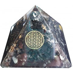 Shungite Flower of Life Orgone Pyramid Tree of Life Journeys Reconnect with Yourself - Meditation, Law of Attraction, Spiritual Products