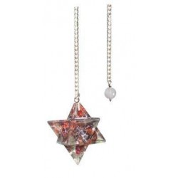 Garnet Orgone Merkaba Pendulum Tree of Life Journeys Reconnect with Yourself - Meditation, Law of Attraction, Spiritual Products