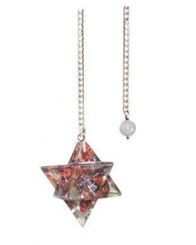 Garnet Orgone Merkaba Pendulum at Tree of Life Journeys, Reconnect with Yourself - Meditation, Law of Attraction, Spiritual Products