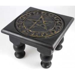 Pentacle Carved Wood Altar Table Tree of Life Journeys Reconnect with Yourself - Meditation, Law of Attraction, Spiritual Products