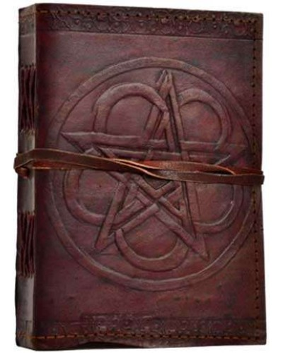 Pentagram Leather Journal with Cord at Tree of Life Journeys, Reconnect with Yourself - Meditation, Law of Attraction, Spiritual Products