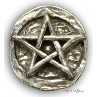 Pentagram Pewter Pocket Charm