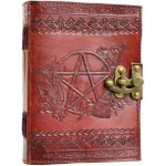 Pentagram Leather Journal with Latch at Tree of Life Journeys, Reconnect with Yourself - Meditation, Law of Attraction, Spiritual Products