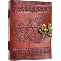 Pentagram Leather Journal with Latch