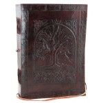 Tree of Life Leather 10 Inch Journal with Cord at Tree of Life Journeys, Reconnect with Yourself - Meditation, Law of Attraction, Spiritual Products
