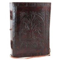 Tree of Life Leather 10 Inch Journal with Cord
