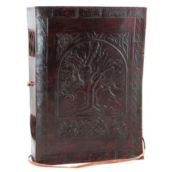Tree of Life Leather 10 Inch Journal with Cord Tree of Life Journeys Reconnect with Yourself - Meditation, Law of Attraction, Spiritual Products