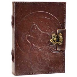 Wolf Moon Leather 7 Inch Journal with Latch Tree of Life Journeys Reconnect with Yourself - Meditation, Law of Attraction, Spiritual Products