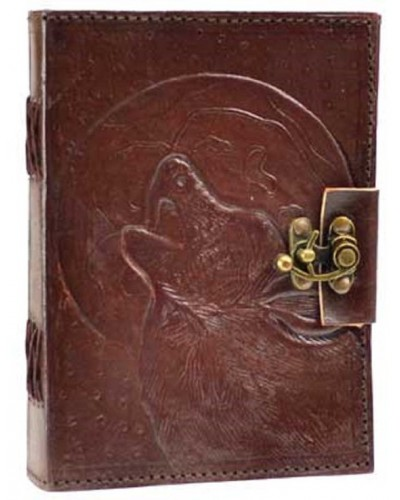Wolf Moon Leather 7 Inch Journal with Latch at Tree of Life Journeys, Reconnect with Yourself - Meditation, Law of Attraction, Spiritual Products