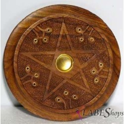 Wood Pentacle Incense Burner Tree of Life Journeys Reconnect with Yourself - Meditation, Law of Attraction, Spiritual Products