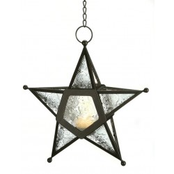 Star Hanging Lantern - Clear Tree of Life Journeys Reconnect with Yourself - Meditation, Law of Attraction, Spiritual Products