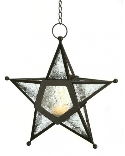 Star Hanging Lantern - Clear at Tree of Life Journeys, Reconnect with Yourself - Meditation, Law of Attraction, Spiritual Products