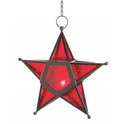 Star Hanging Lantern - Red Tree of Life Journeys Reconnect with Yourself - Meditation, Law of Attraction, Spiritual Products
