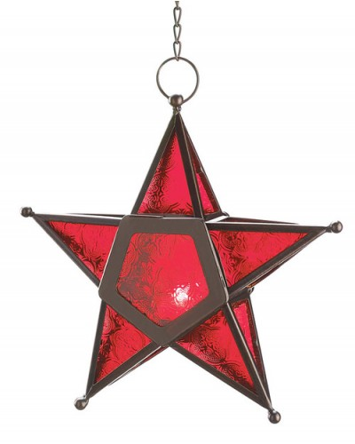 Star Hanging Lantern - Red at Tree of Life Journeys, Reconnect with Yourself - Meditation, Law of Attraction, Spiritual Products