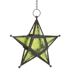 Star Hanging Lantern - Green Tree of Life Journeys Reconnect with Yourself - Meditation, Law of Attraction, Spiritual Products