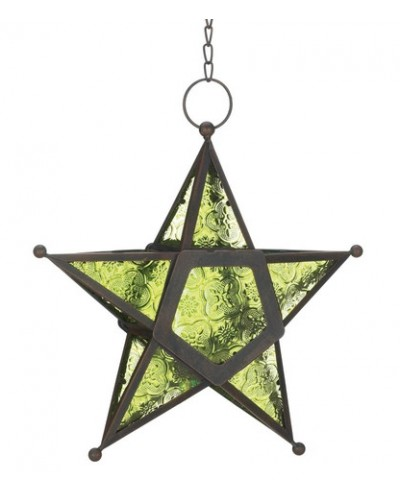 Star Hanging Lantern - Green at Tree of Life Journeys, Reconnect with Yourself - Meditation, Law of Attraction, Spiritual Products