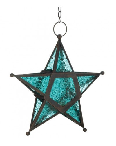 Star Hanging Lantern - Blue at Tree of Life Journeys, Reconnect with Yourself - Meditation, Law of Attraction, Spiritual Products